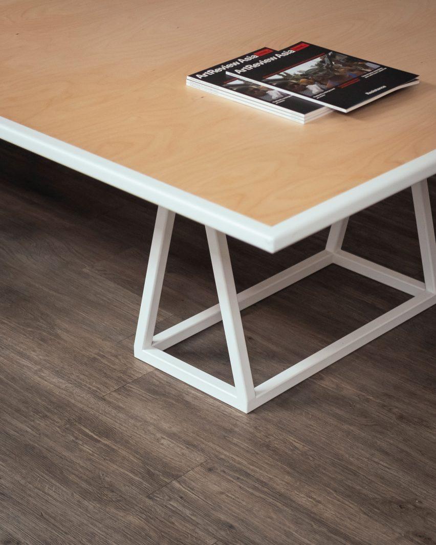 Trestle table by Sam Jacob