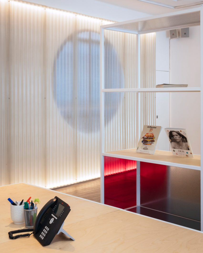 Translucent paneling in office