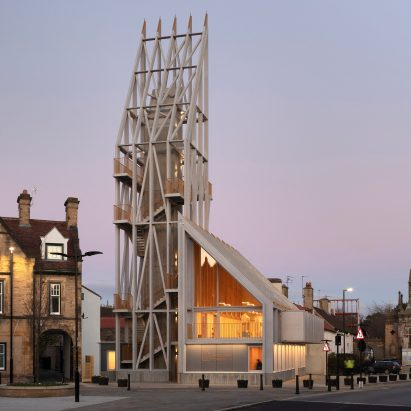 Auckland Castle's entrance by Niall McLaughlin Architects