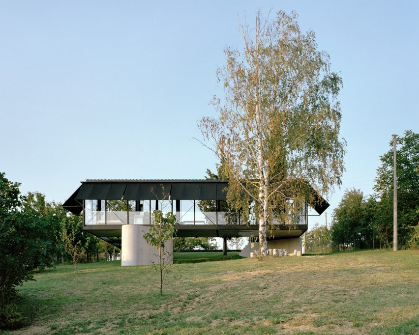 A steel and glass house on Avala mountain