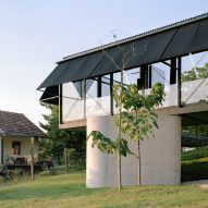 A house made from steel, glass and concrete