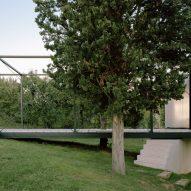 A steel-framed terrace