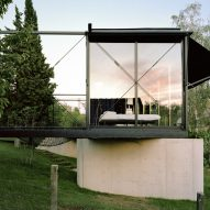 A steel and glass house