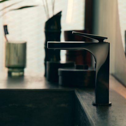 A matte black tap by Axor