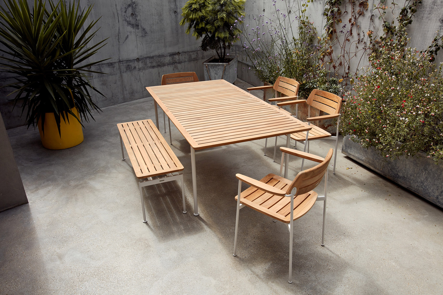 Dining table from Layout outdoor collection
