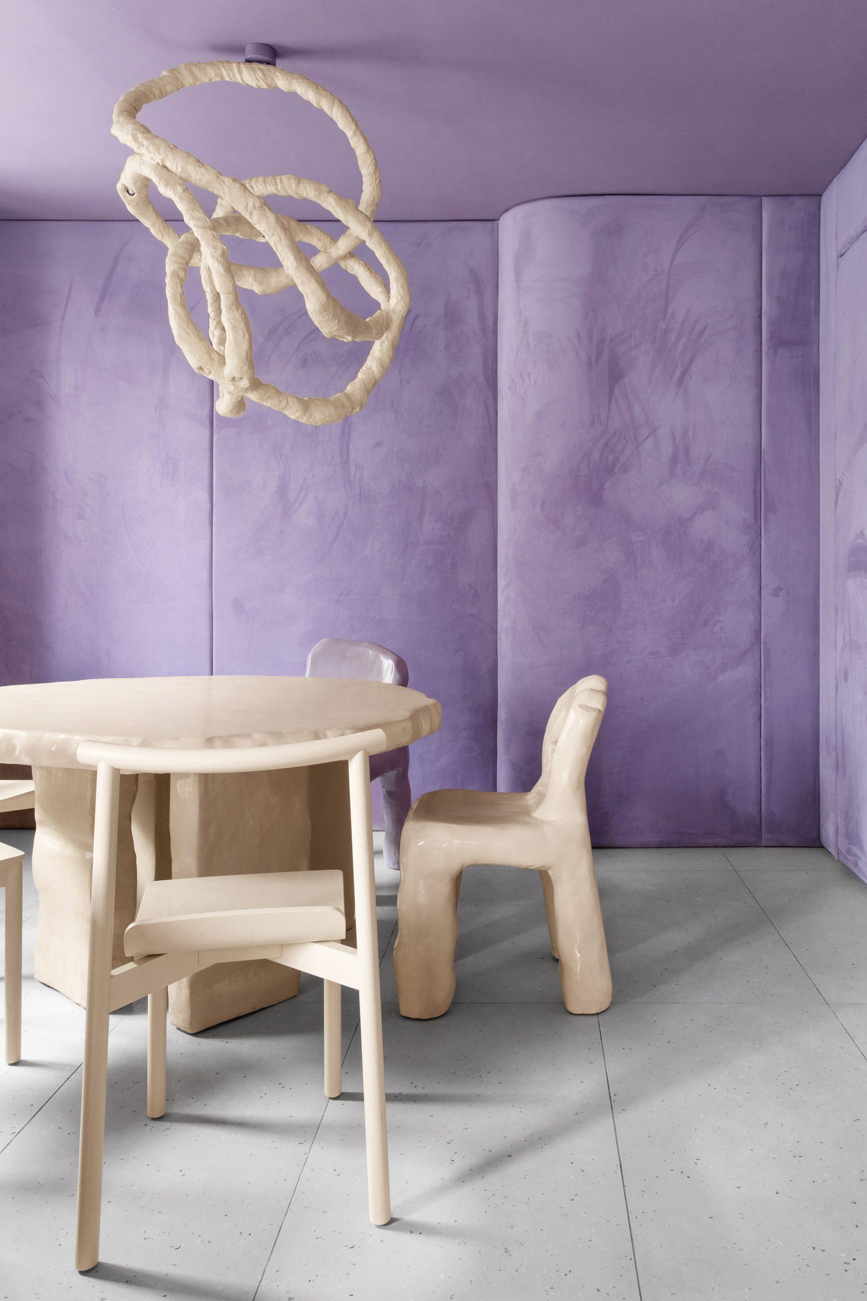 Walls and furniture inside Cafe Krujok