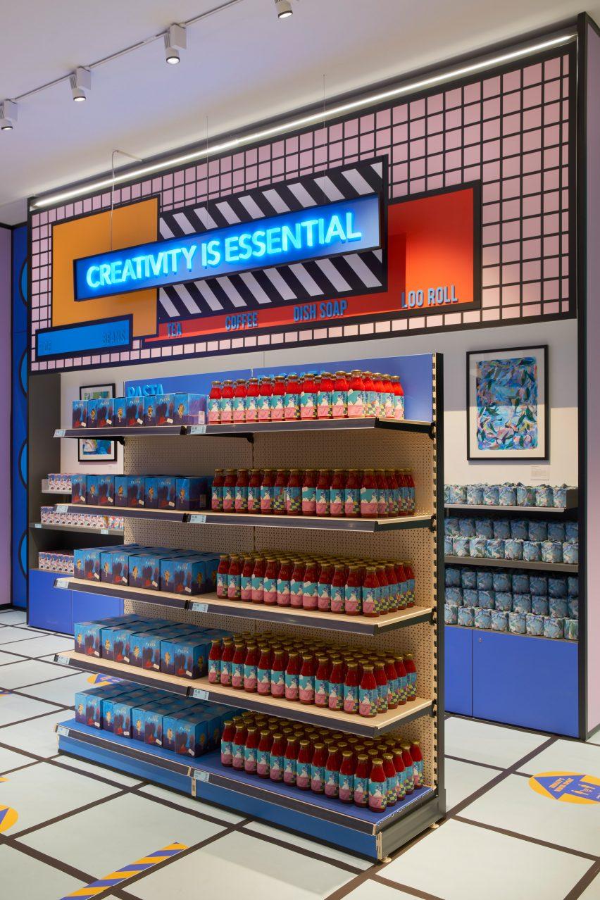 Supermarket pop-up shop