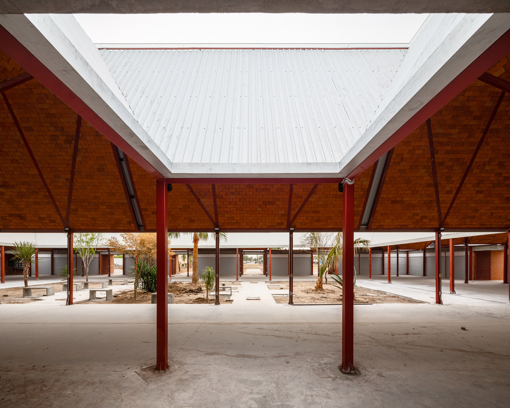 Courtyard garden in Matamoros Market by Colectivo C733