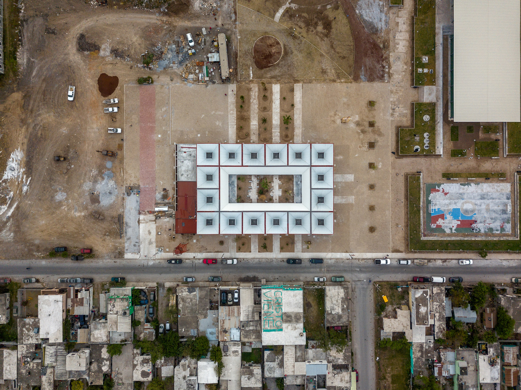 Aerial view of Matamoros Market by Colectivo C733