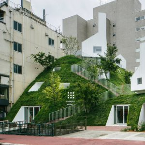 Sou Fujimoto adds giant atrium and green hill to Shiroiya Hotel
