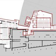 Basement floor planof Cusanus Academy renovation by MoDus Architects