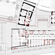 Ground floor plan of Cusanus Academy renovation by MoDus Architects