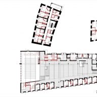 First floor plan of Cusanus Academy renovation by MoDus Architects