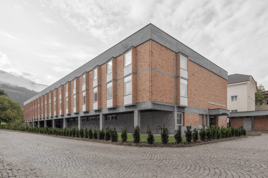 Exterior of Cusanus Academy renovation by MoDus Architects