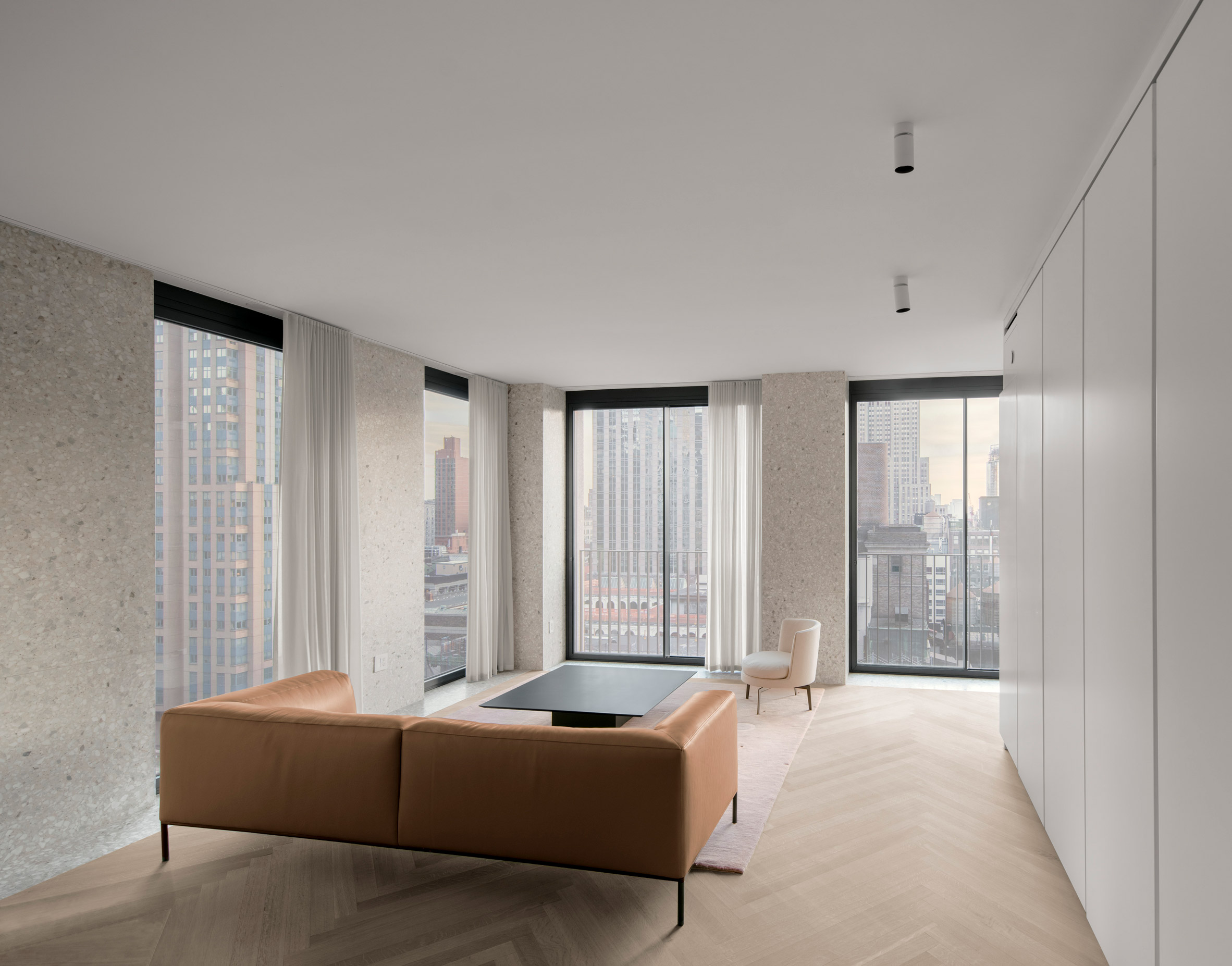 Terrazzo interiors of The Bryant by David Chipperfield