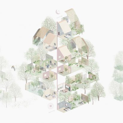 An architectural illustration by HomeForest