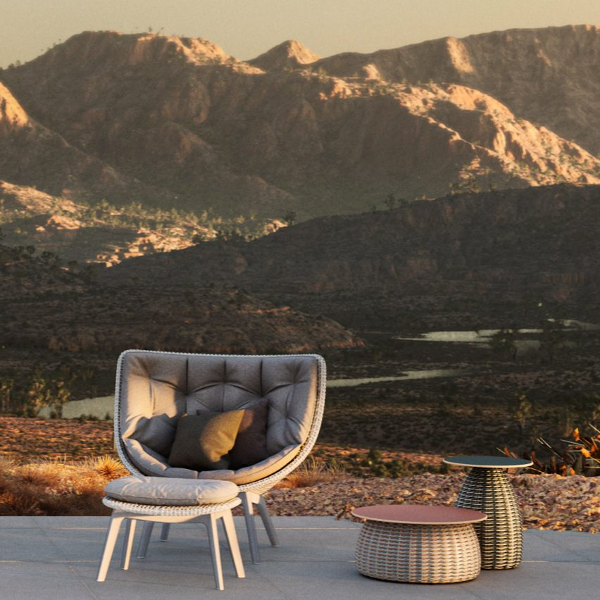 MBRACE outdoor seating by Sebastian Herkner for Dedon