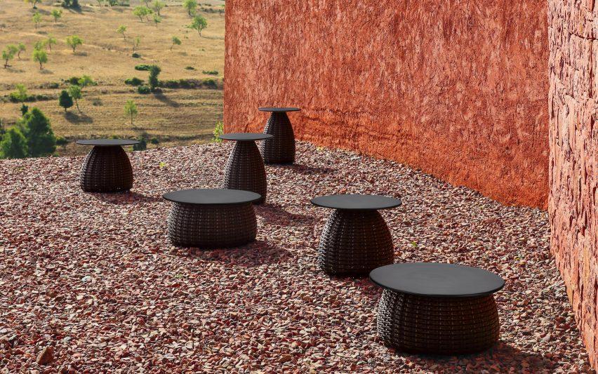 Porcini tables by Lorenza Bozzoli for Dedon