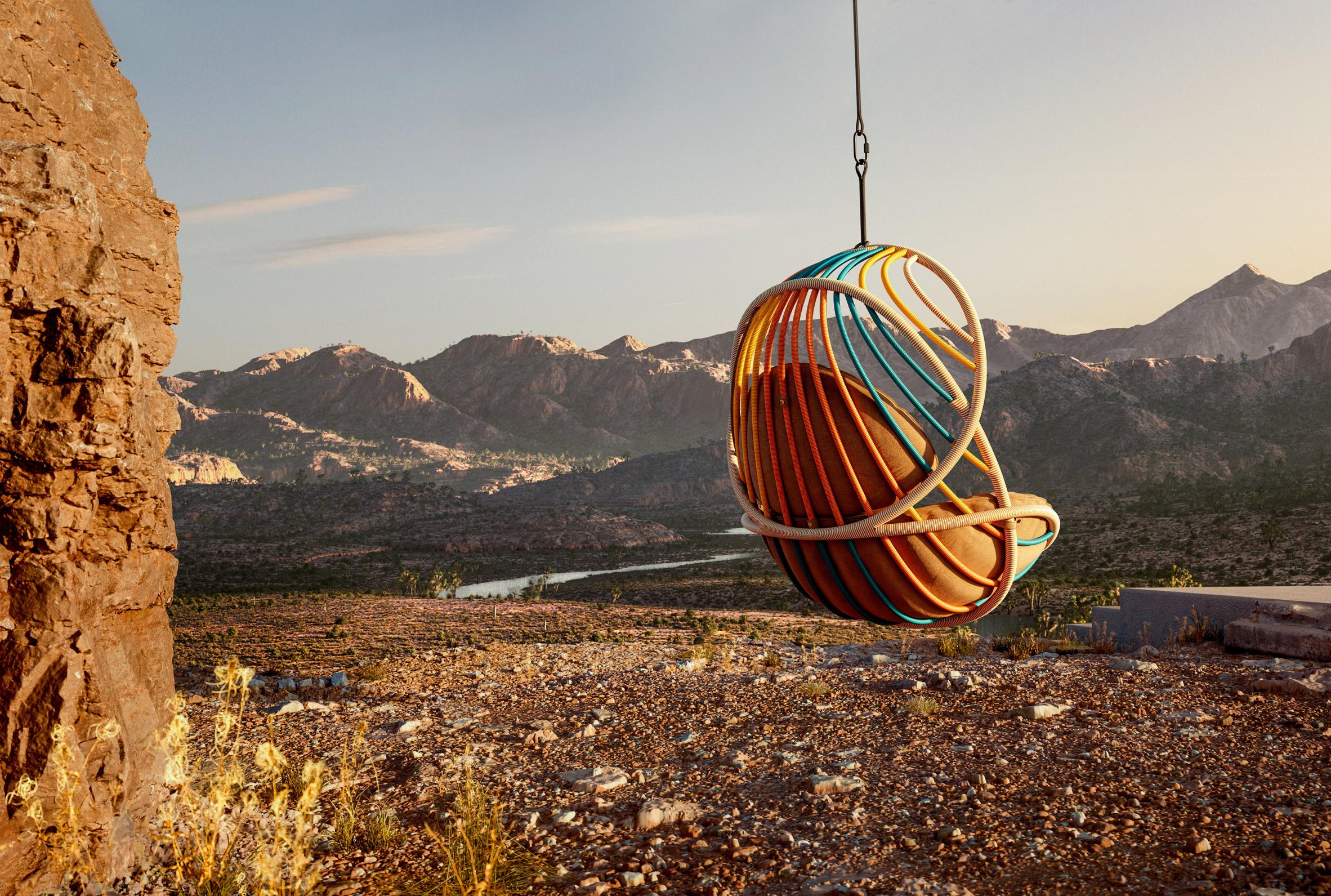 KIDA hanging lounge chair by Stephen Burks for Dedon