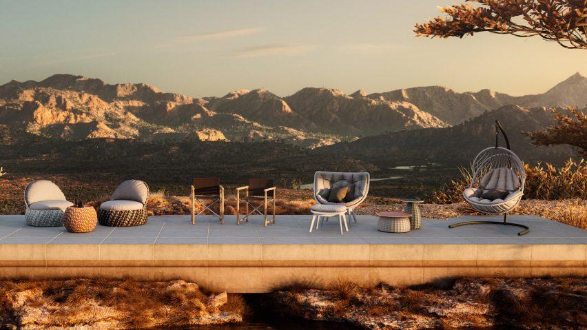 Outdoor furniture by Stephen Burks, Sebastian Herkner and Lorenza Bozzoli for Dedon