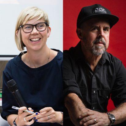 Dezeen Awards talk with Gary Hustwit and Katie Treggiden
