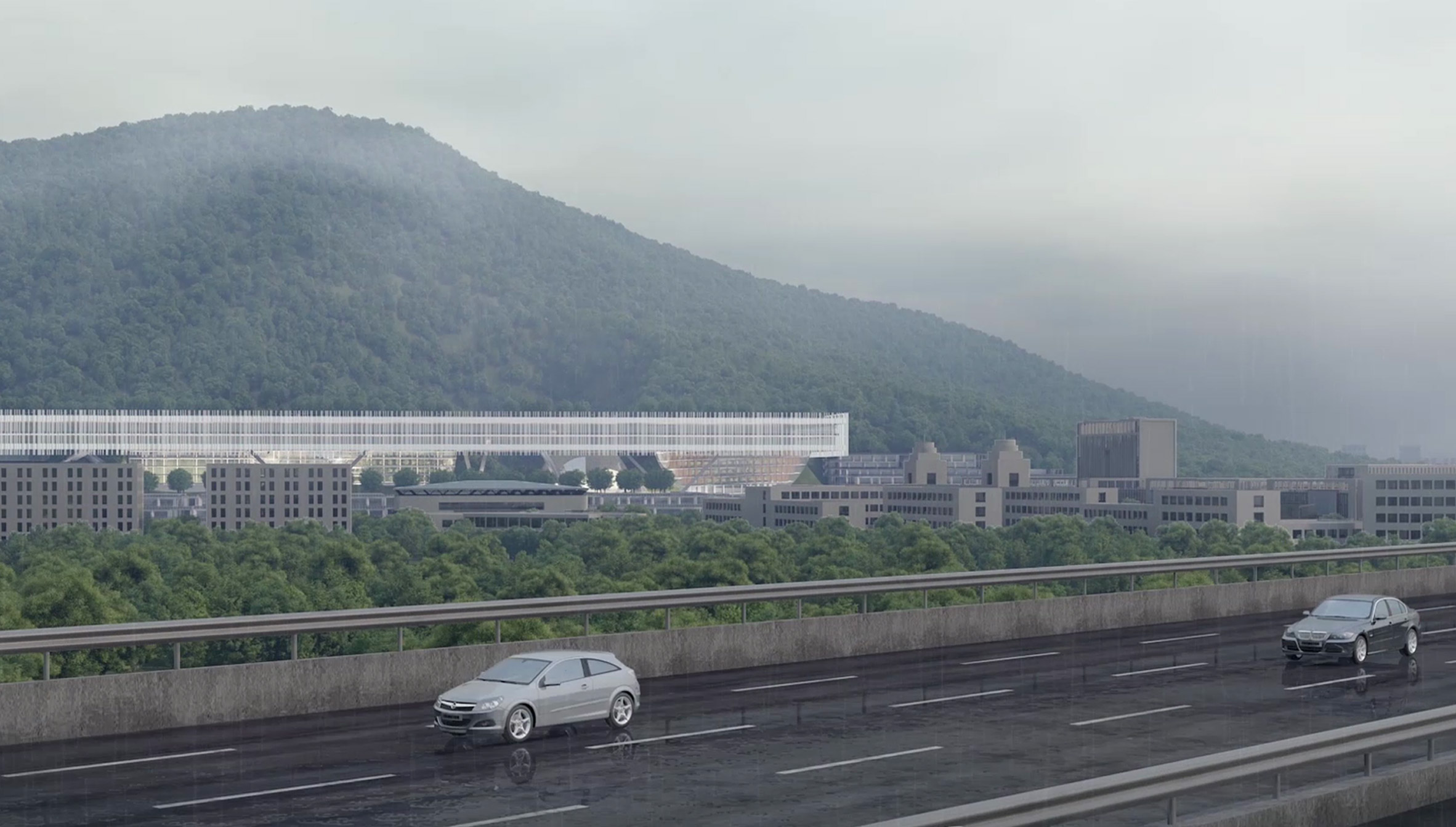 The design is 700 metres in length by Dominique Perrault Architects and Zhubo Design