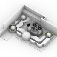 Axonometric drawing of the space