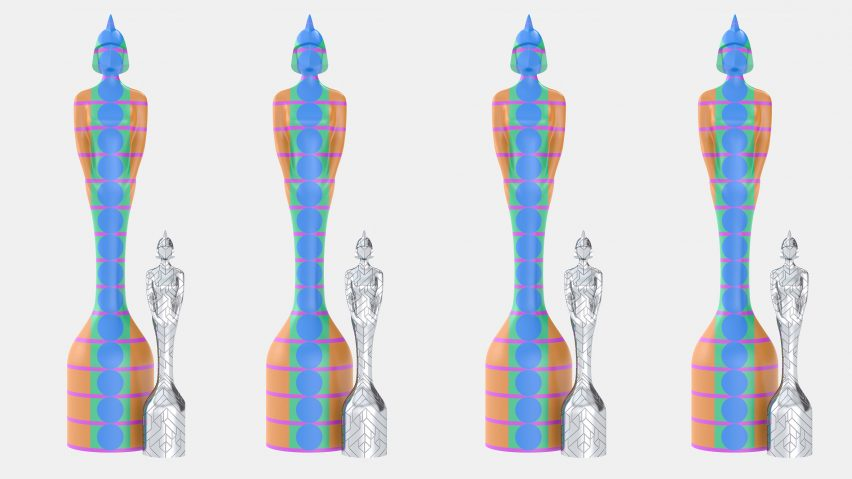 BRIT Award trophies by Es Devlin and Yinka llori