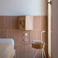 Tiles form bedside lamps