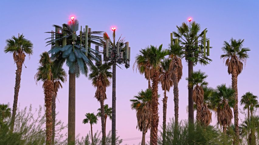 Cell towers disguised as palm trees