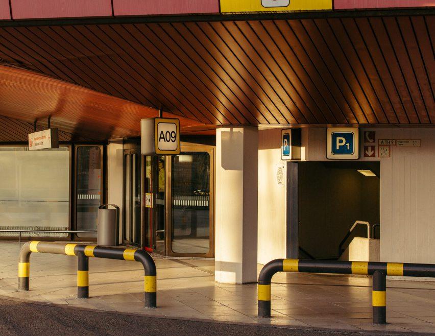 Entrance of Tegel airport from photo book by Robert Rieger and Felix Brüggemann