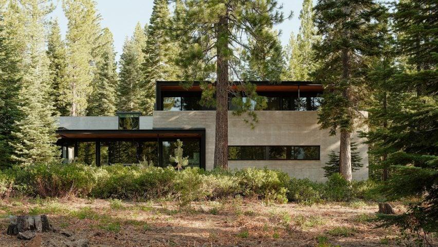 Faulkner Architects designed the dwelling near Lake Tahoe