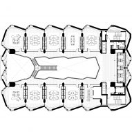 Plan with large staircase