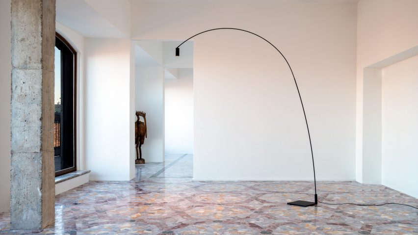 Fox floor lamp by Bernhard Osann for Nemo