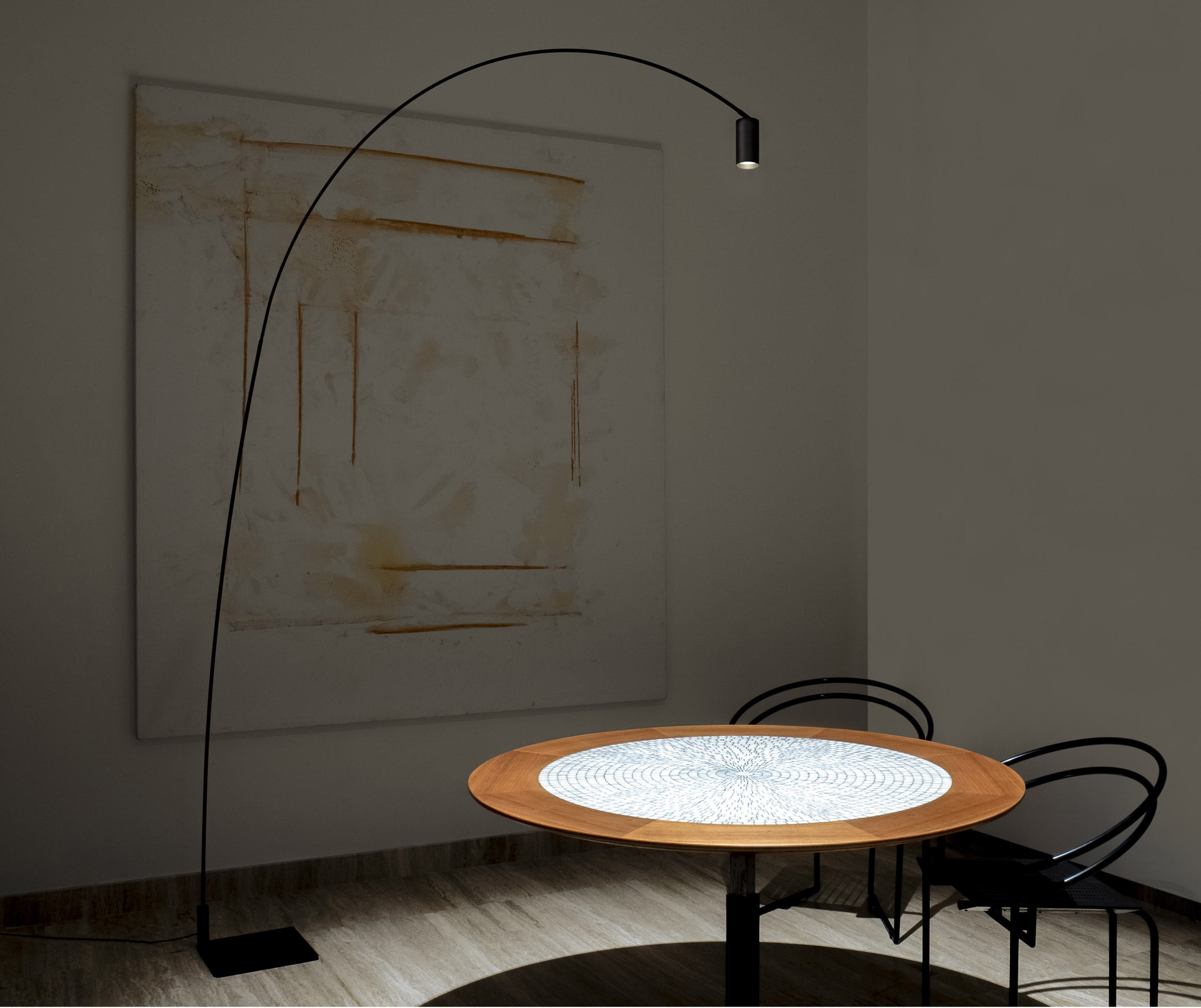 Floor lamp by Bernhard Osann in an interior