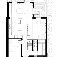 The ground floor plan of Fruit Box by Nimtim Architects
