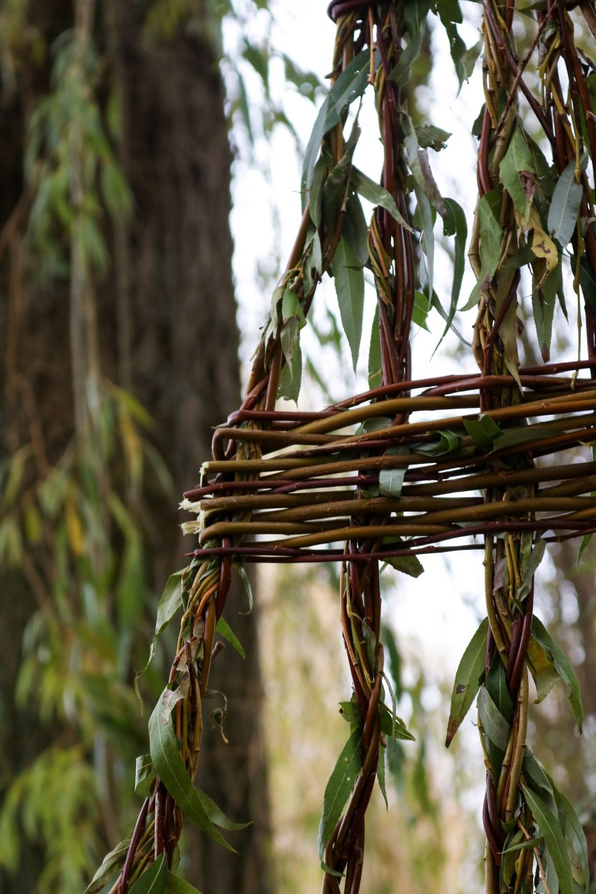 Weeping Seat is formed from living and harvested branches