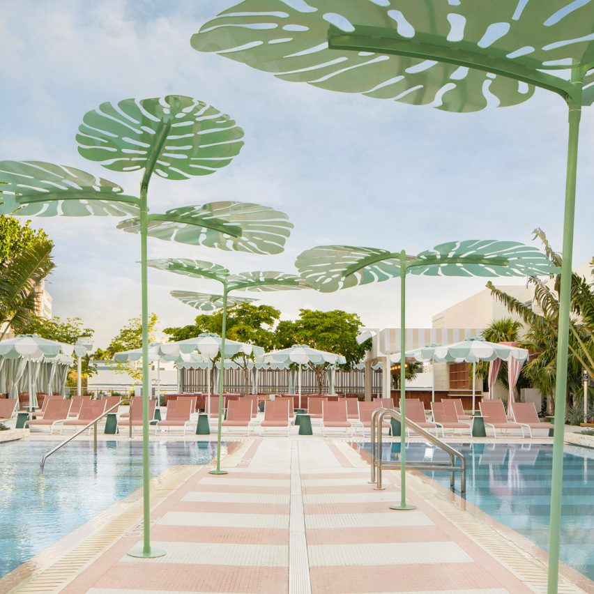 Pool of the Goodtime Hotel by Ken Fulk for Pharrell Williams and David Grutman