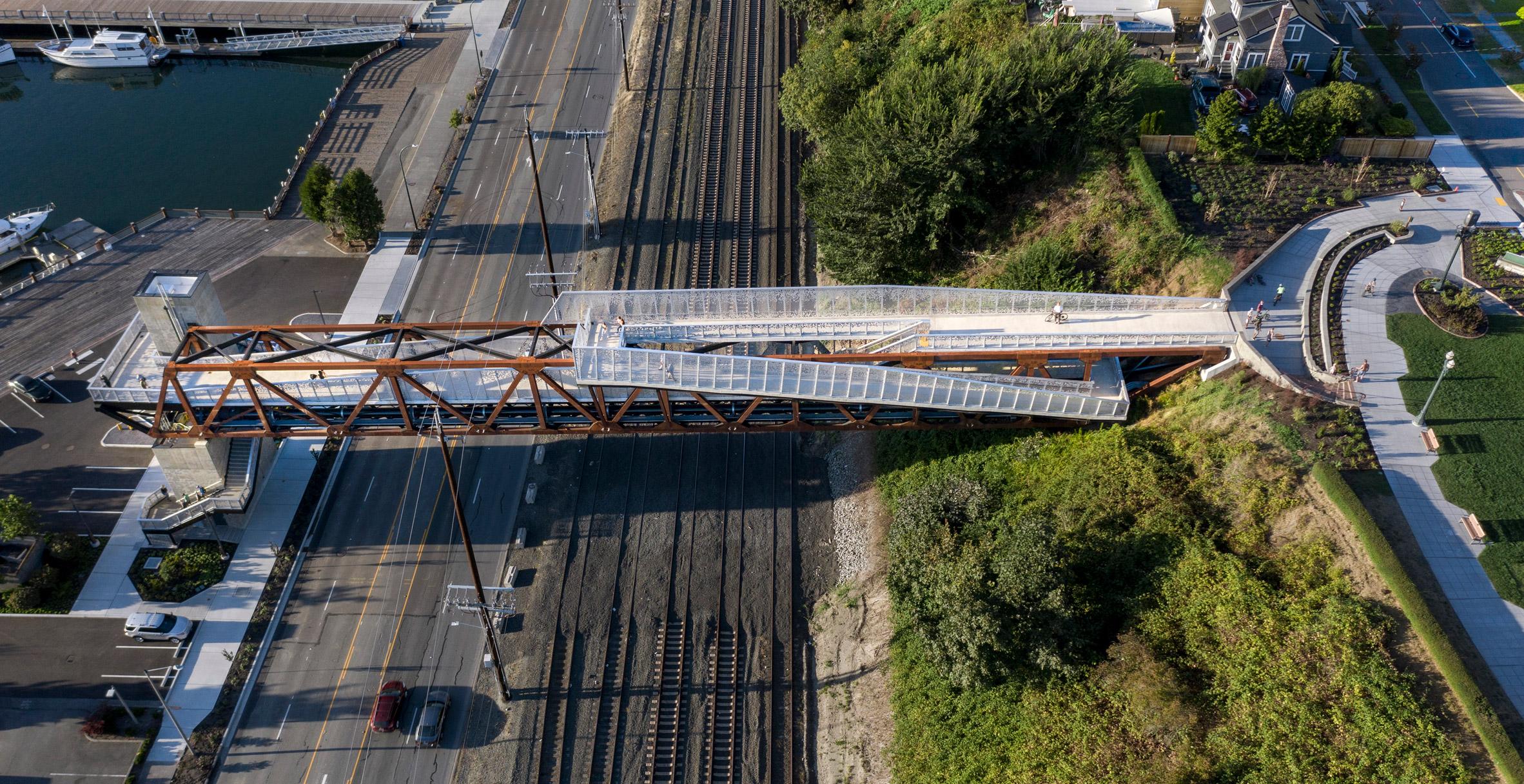 New Grand Avenue Park Bridge by LMN Architects