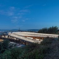 Viewing platforms tops New Grand Avenue Park Bridge by LMN Architects
