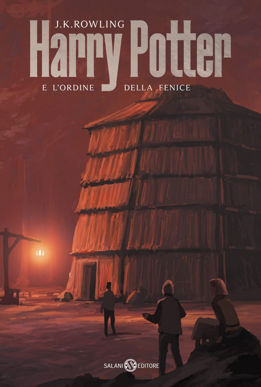 Cover of Harry Potter and the Order of the Phoenix designed by Michele De Lucchi