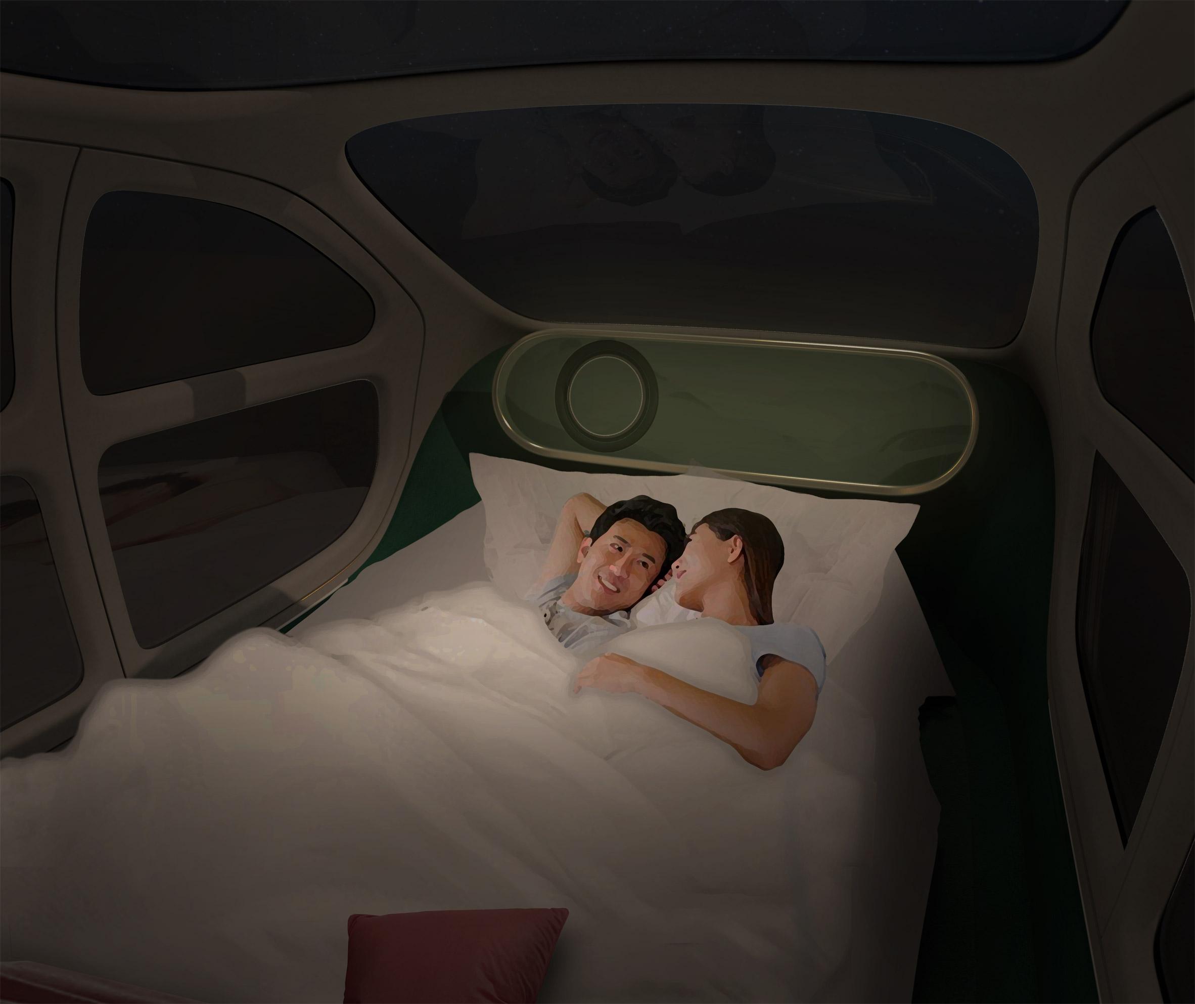 bed inside Airo
