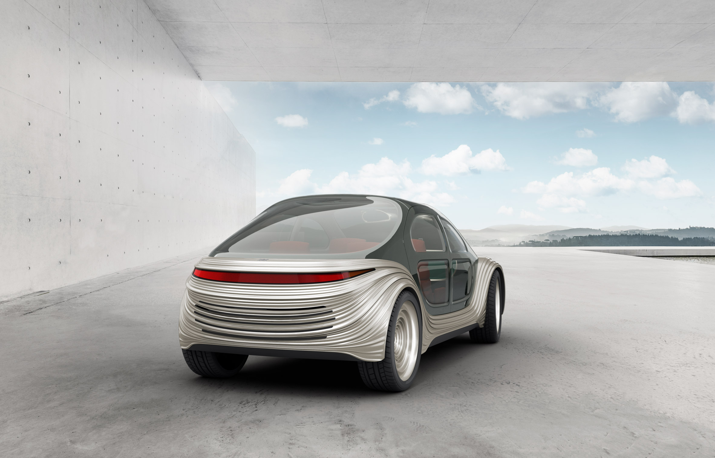 Rear of sinuous Airo electric car