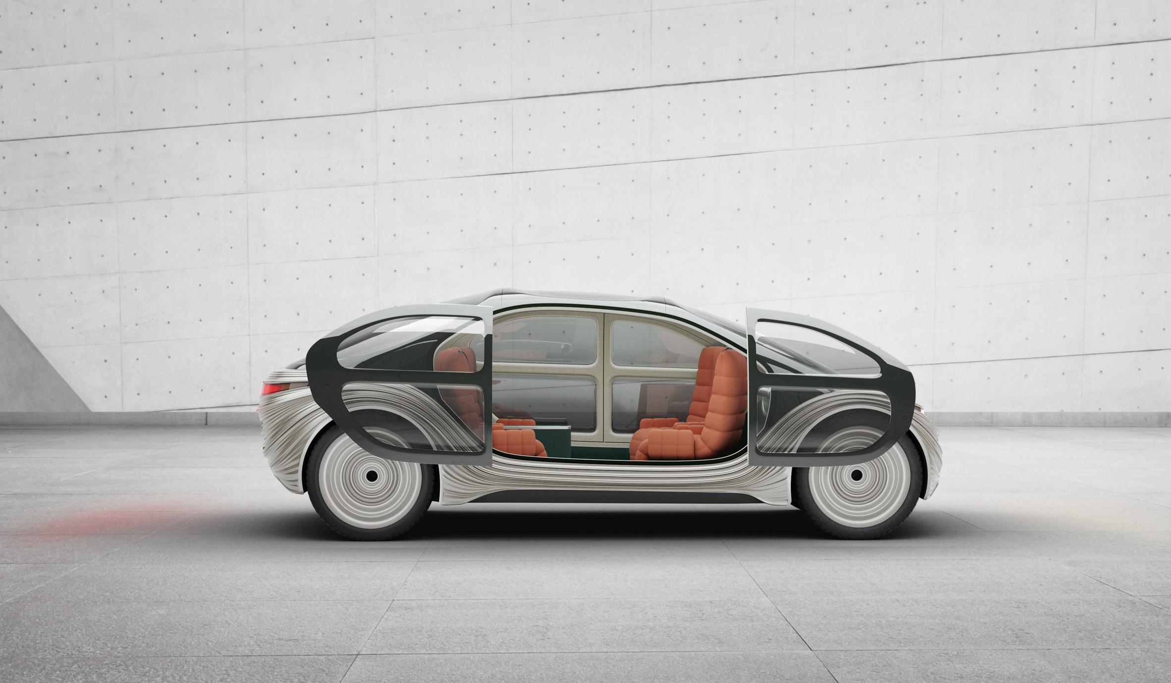 Sliding doors on Airo electric car