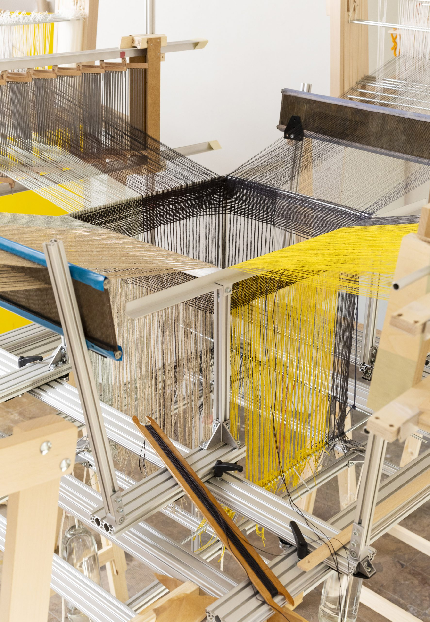 Seamless Loom as exhibited at the Woven Cosmos exhibition at Berlin Gropius Bau