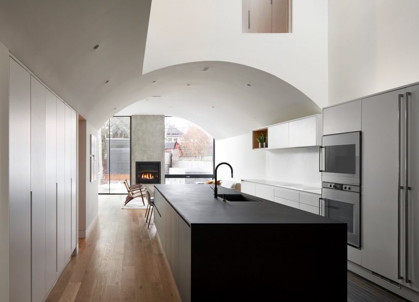 High Park Residence has vaulted ceilings