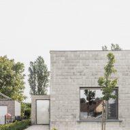 A pale brick bungalow in Belgium