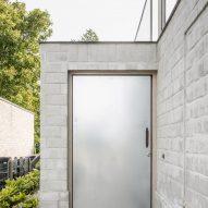 A pale brick facade
