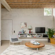 The living room of House C-VL in Belgium
