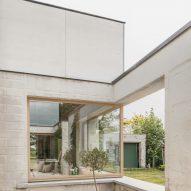 The brick exterior of House C-VL in Belgium
